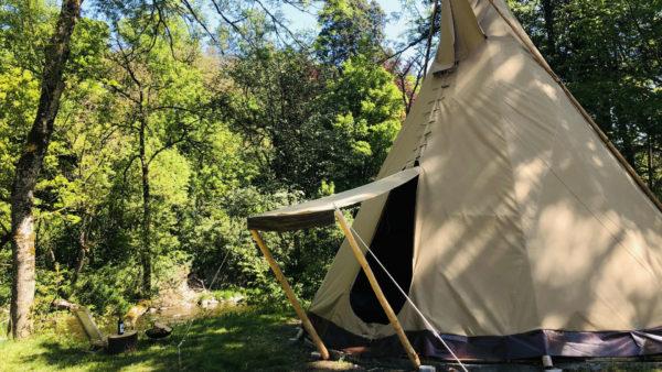 Uniek overnachten in een Tipi Tent