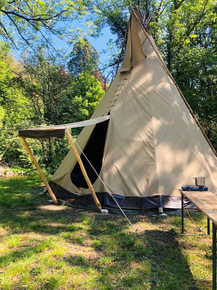 Overnachten in een Tipi tent in de Ardennen