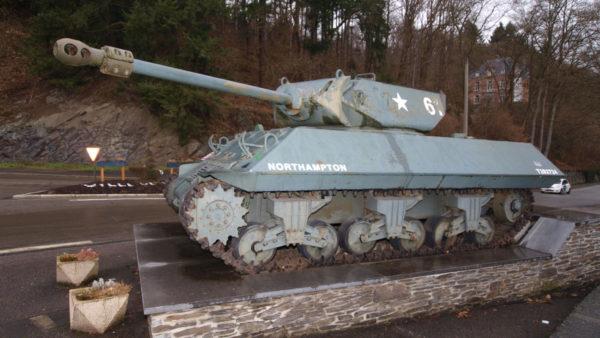 Britse Tank in La Roche-en-Ardenne