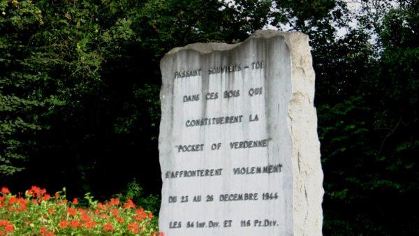 Gedenksteen Slag om de Ardennen in Verdenne