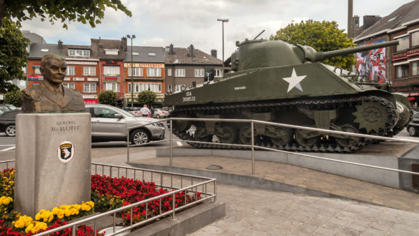 McAuliffe Monument in Bastogne