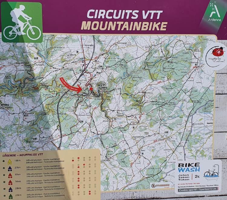 Mountainbiken in Houffalize routes