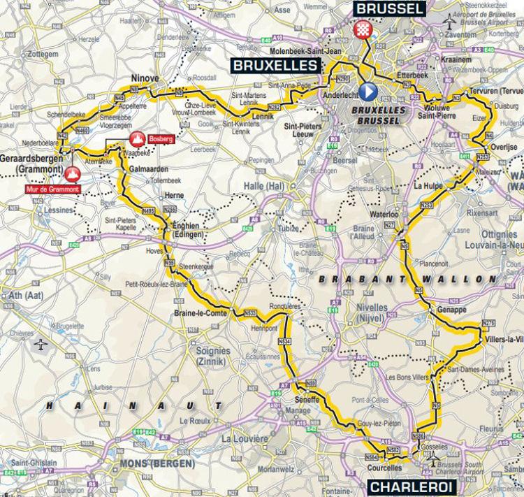 Route 1e etappe Tour de France 2019