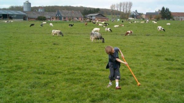 Boerengolf op La Ferme de la Bourgade in Heure