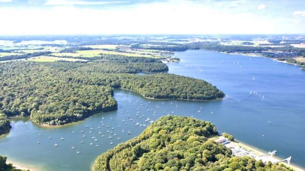 Fietsen rond de Lacs de l'Eau d'Heure