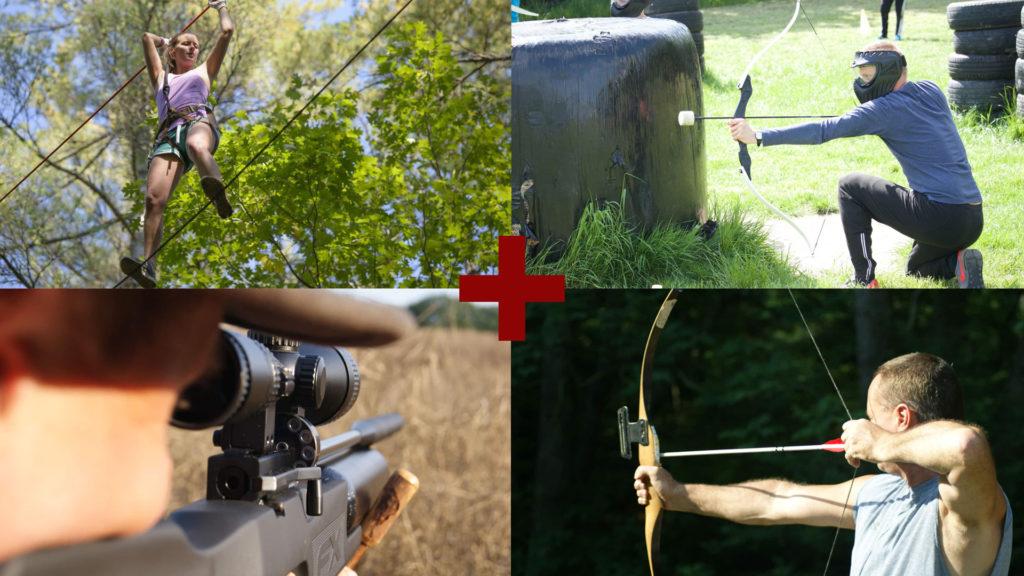 Hoogte- en schietchallenge in de Ardennen