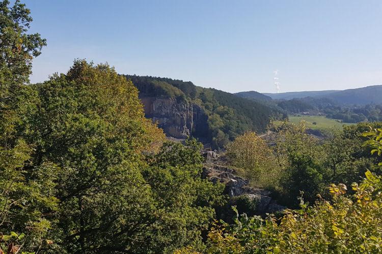 Uitzicht vanaf de Roche aux Falcons