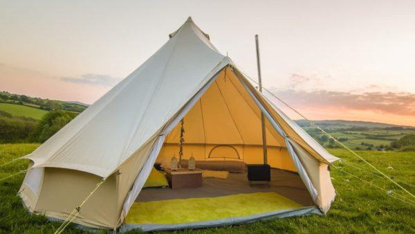 Rustig overnachten in een Tent aan de Ourthe