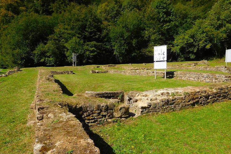 Romeinse ruïnes bij Chameleux