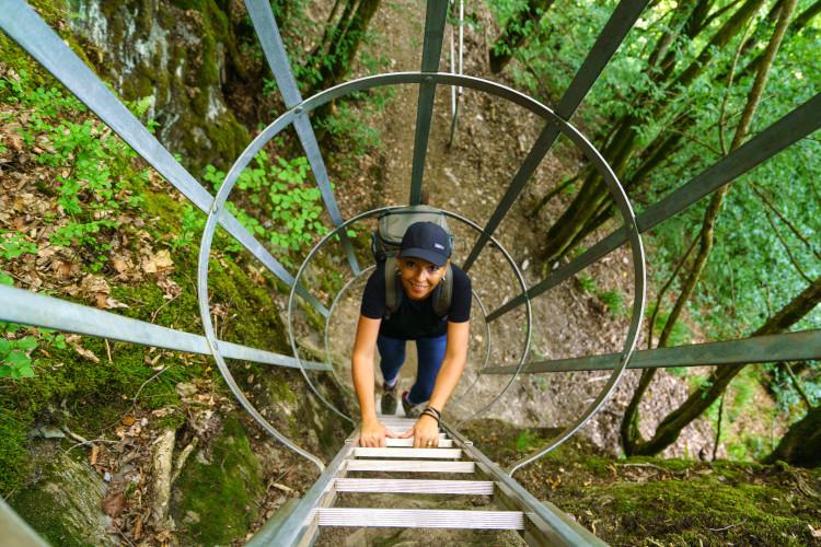 Beklimmen van de ladders © WBT - Denis Closon