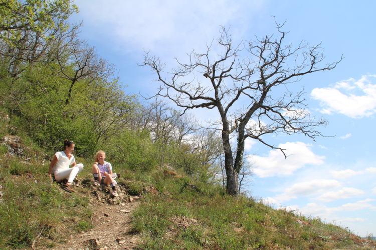 Even uitrusten na de steile klim