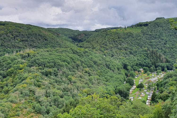 Camping Kautenbach in het dal
