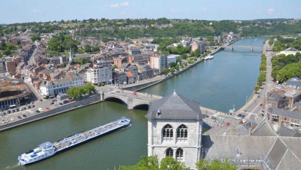 Huy - Hoei stad in de Ardennen Belgie